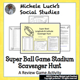 Super Football Game Longitude & Latitude Scavenger Hunt Activity