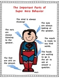 Super Hero Behavior Poster