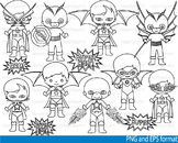 Super Hero Clip Art SCHOOL outline stamp coloring page lin
