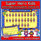 Super Hero Kids Themed SmartBoard Attendance/Check-In