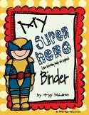Super Hero Organizational Binder Sets (Male and Female Sup