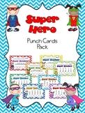 Super Hero Punch Card Pack