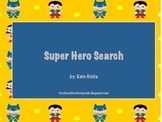 Super Hero Search Literacy Game