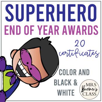 Super Hero Themed Awards