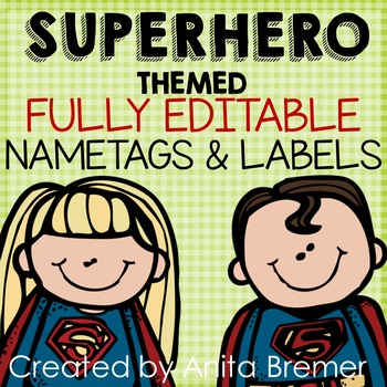 Super Heroes! Nameplates & Labels
