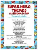 Super Heroes Themed Classroom Bundle
