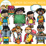 Super School Kids Clip Art