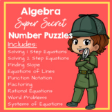 Super Secret Number Puzzles - Algebra Edition