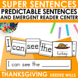 Super Sentences: Predictable Sentences for Thanksgiving