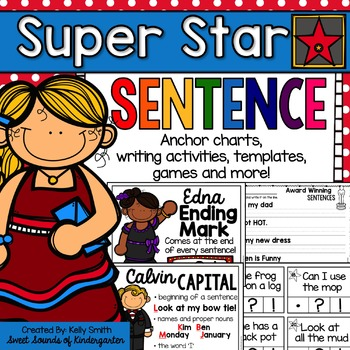 Super Star Sentence! {Sentence Writing Anchor Chart & Activities}