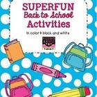 Superfun Back to School Activities