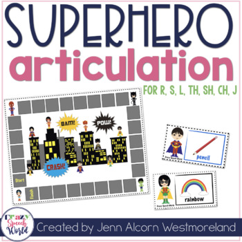 Superhero Articulation Cards for Speech Therapy {Later Dev