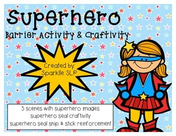 Superhero Barrier Activity & Craftivity