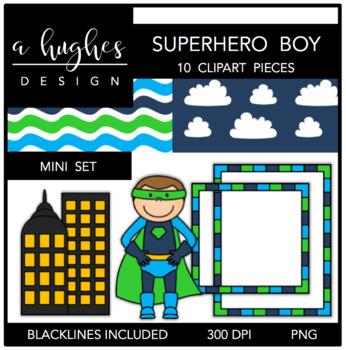 Superhero Boy Mini Set {Graphics for Commercial Use}