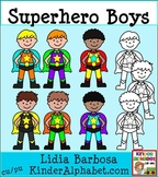 Superhero Boys- Clip Art for Teachers