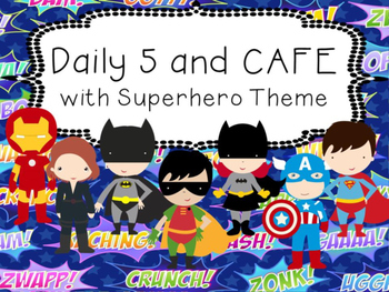 *REVISED* Superhero Daily 5 and CAFE Poster set