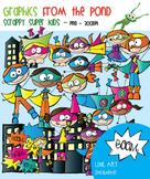 Superhero Kids - Scrappy Super Kids Clipart