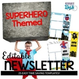 Superhero Newsletter Templates
