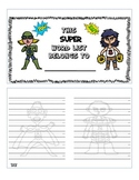 Superhero Quickword Cursive Dictionary Word Wall List