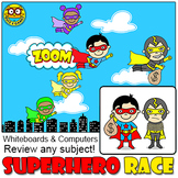 Superhero Race Quiz-E Game - Review any Subject – For Whit