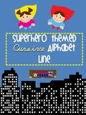 Superhero Themed Cursive Alphabet
