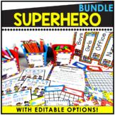 Superhero Themed Editable Classroom Pack