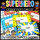 Superhero Themed Editable Classroom Pack