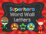 Superhero Word Wall  Letter Headers