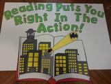Superhero Reading Bulletin Board
