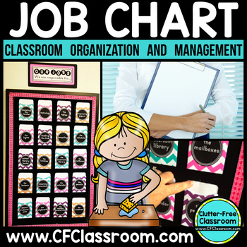Job Chart Using Library Pockets, EDITABLE {Tips for Managing Classroom Jobs}