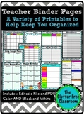 Supplements for a Organization Binder {Templates, Editable