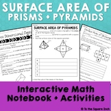 Surface Area of Prisms and Pyramids Interactive Notebook P