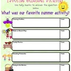 Surveys in a Snap! {FREE Favorite Summer Activity Survey f