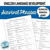 Survival English/Spanish/Arabic Phrases