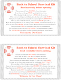 Survival Kit - Back to School