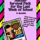 Surviving the Last Week of School Pack *Spanish Activities*