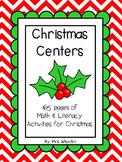 Christmas Centers: Literacy & Math