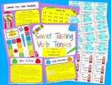 Sweet Tasting Verb Tenses Reading Center Game Activity