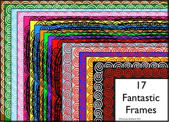Swirling Borders and Frames- For Personal or Commercial Use