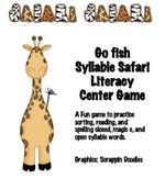 Syllabe Safari Closed, Magic E, Open Go Fish Literacy Center game