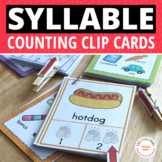 Syllable Counting Clip Cards: Early Literacy Activities for ECE