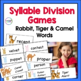 Syllable Division Games: Rabbit, Tiger & Camel Words (VC/C