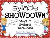 Syllable Showdown [Magic E Resources] CCSS Aligned
