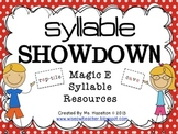 Syllable Showdown [Magic E Resources] CCSS Aligned