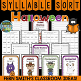 Syllable Sort - Halloween Themed Center Game