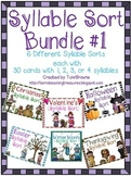 Syllable Sorts Bundle 1