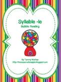 Syllable -le Bubble Reading