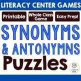 Synonym and Antonym Puzzles