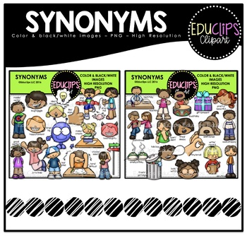 Synonyms Clip Art Bundle