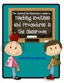 TEACHING CLASSROOM PROCEDURES & ROUTINES WORKBOOK
